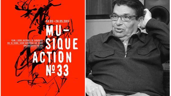 Affiche Musique Action 2017 et Alain Savouret à l'INA
