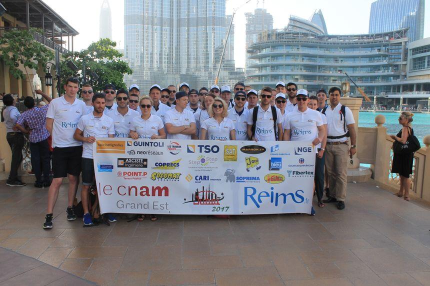 Les étudiants ingénieurs BTP du CNAM de Reims en voyage d'études aux Émirats arabes unis