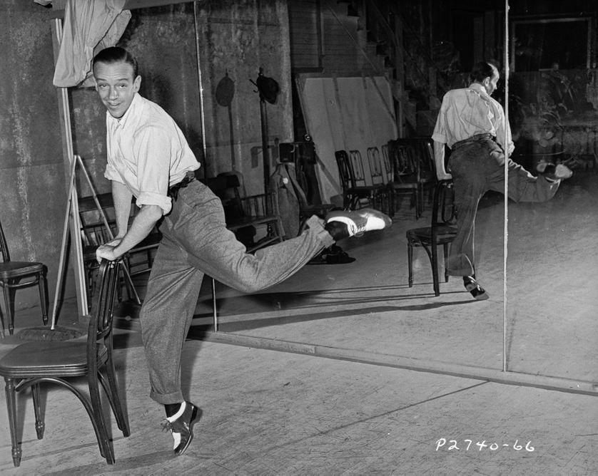 Fred Astaire en répétition en 1945