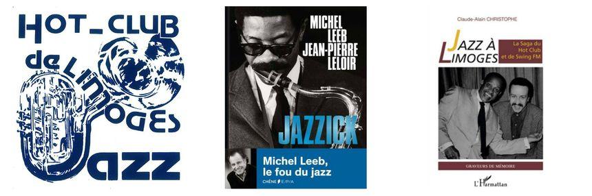 histoire et passion du jazz pour ce 1er salon du livre de musique avec le Hot Club de Limoges et Michel Leeb