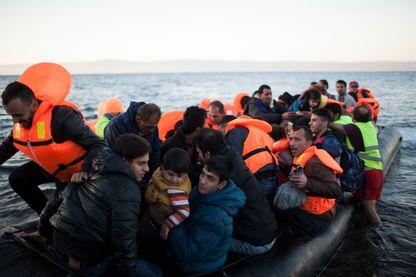 Des réfugiés ont atteint les rives de l'île grecque de Lesbos