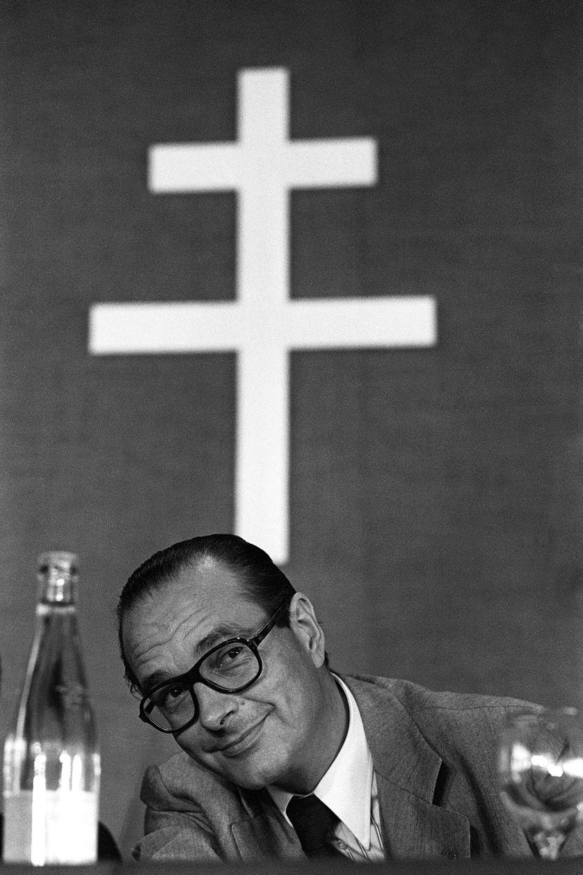 Jacques Chirac en 1977 au premier congrès du RPR, créé six mois plus tôt.