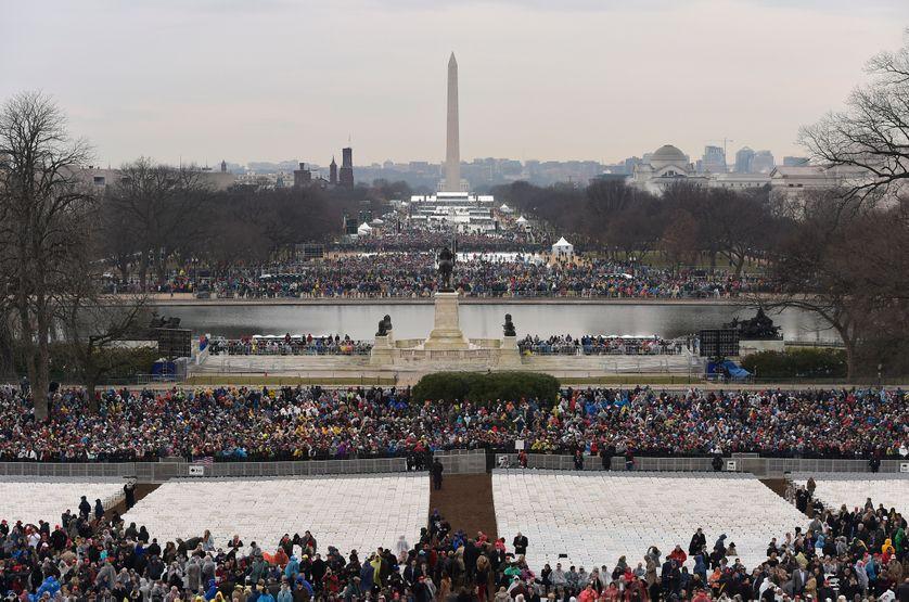 Arrivée du public lors de l'investiture de Donald Trump (20/01/2017)