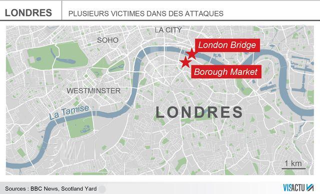 """Des """"incidents"""" d'origine terroristes ont eu lieu dans la nuit de samedi à dimanche à Londres"""