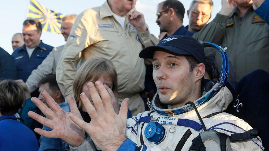 Thomas Pesquet, juste après son retour sur Terre, vendredi 2 juin.