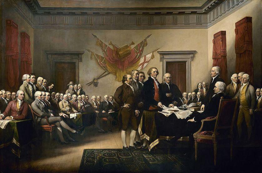 La signature de la déclaration d'indépendance. John Trumbull