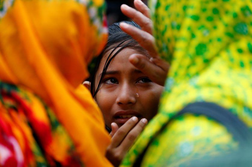 Une jeune fille ayant perdu ses parents dans le drame du Rana Plaza