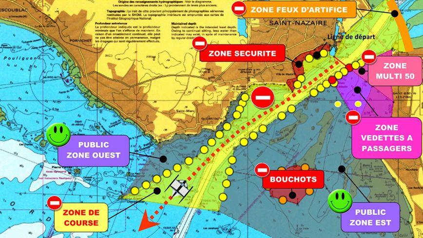 carte départ THE BRIDGE 2017 zones nautiques