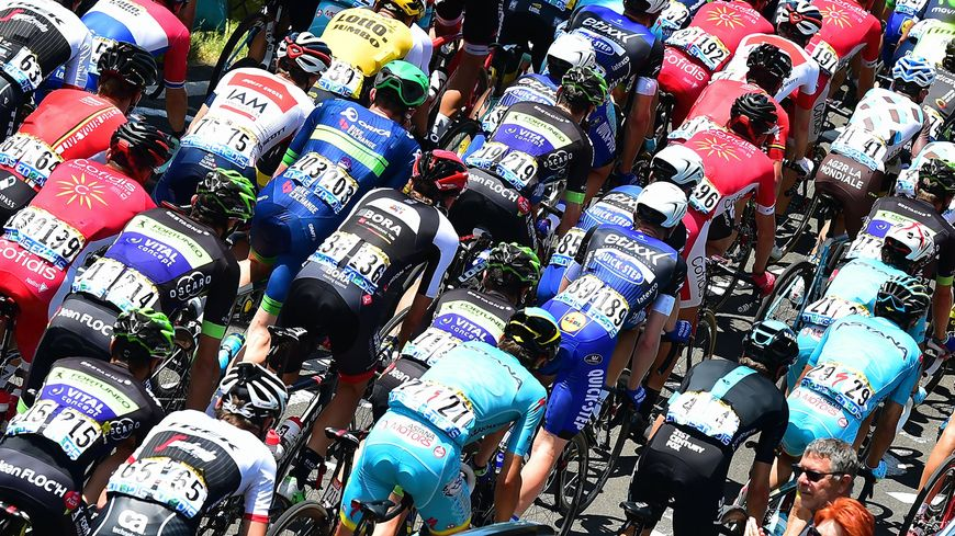 Le peloton du Tour de France (illustration)