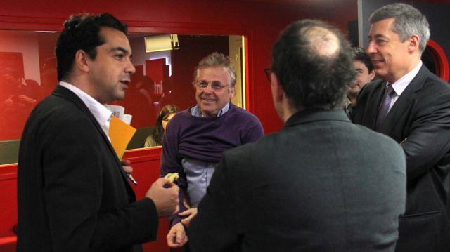 avec Daniel Cohn-Bendit et Henri Guaino (Mars 2012)