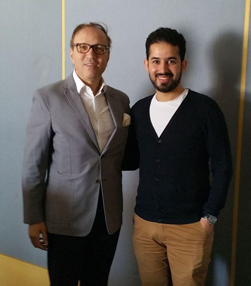 De gauche à droite : Ghaleb Bencheikh et Jamel El Hamri (juin 2017)