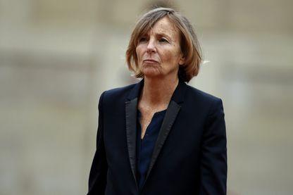 Marielle de Sarnez lors de la passation de pouvoir entre François Hollande et Emmanuel Macron