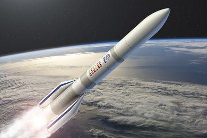 Vue d'artiste de ce que sera la fusée Ariane 6