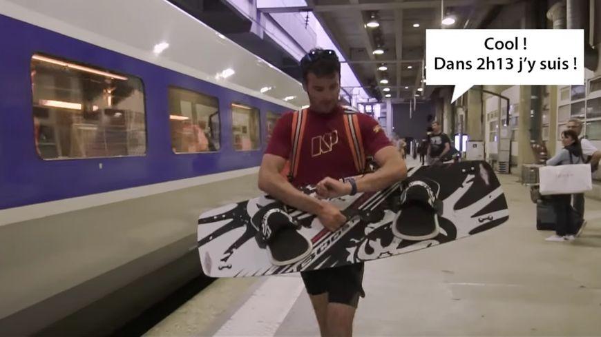"""Capture écran de la vidéo """"Paris - Saint-Brieuc : 2h13"""" mise en ligne par Saint-Brieuc Armor Agglomération"""