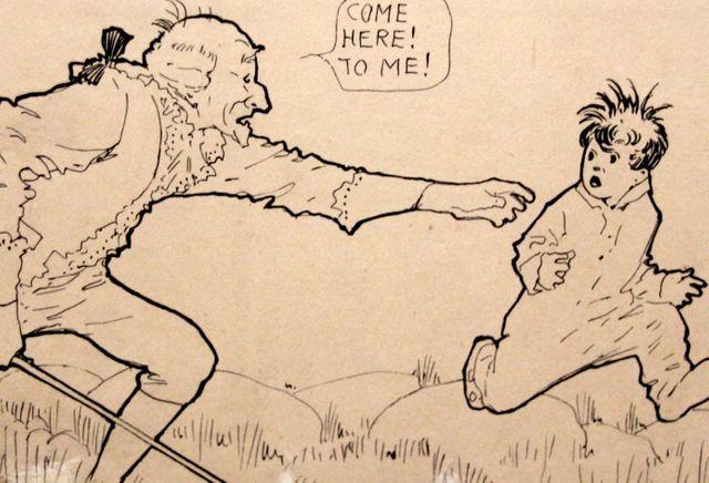 Georges Washington apparait dans un des cauchemars de Little Nemo in Slumberland - Détail d'une planche présentée dans l'exposition Winsor McCay