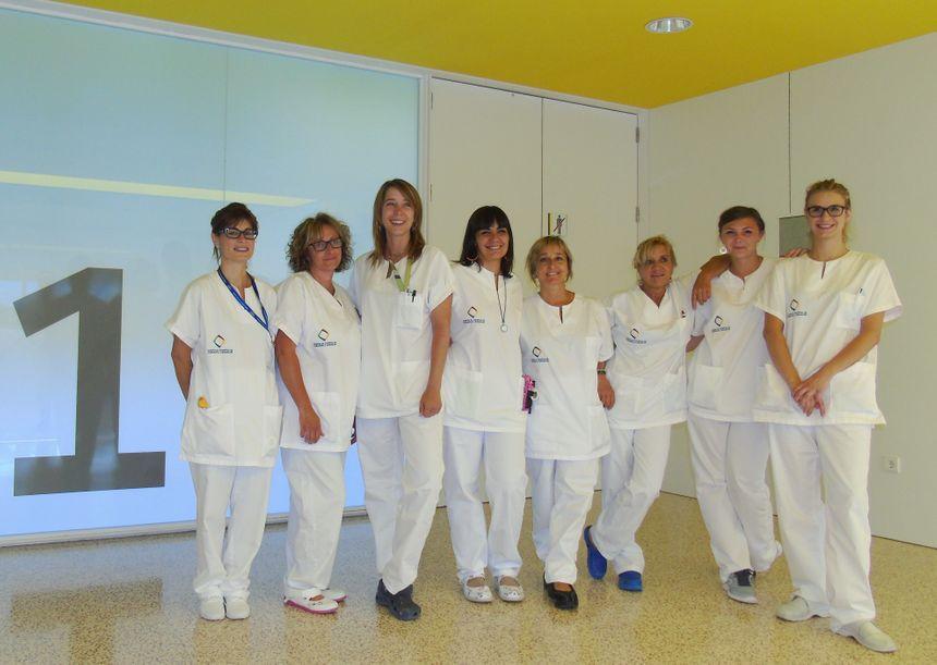 Les personnels soignants, Français et Catalans