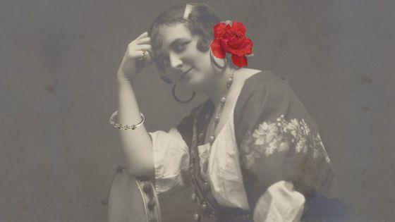 La cantatrice Madeleine Mathieu dans le rôle de Carmen.