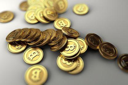 Les bitcoins, monnaie cryptographique décentralisée avec une capitalisation d'environ 46 milliards d'euros en juin 2017
