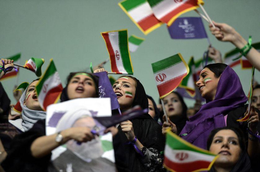 Soutiens d'Hassan Rohani à Téhéran le 13 mai 2017