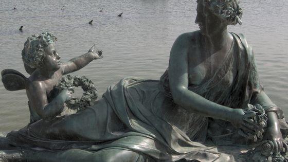 Zéphyr et une nymphe, parterre d'eau du château de Versailles