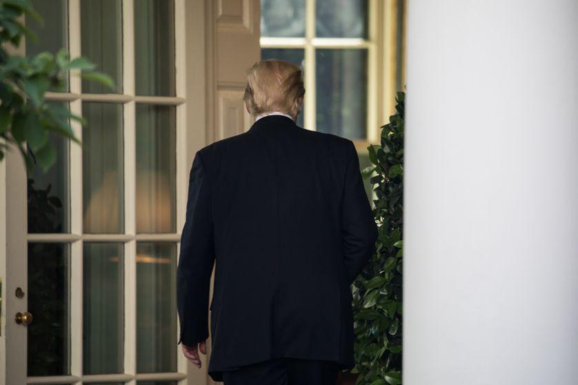 Le président Trump tourne le dos à l'accord de Paris, ici après son allocution dans la roseraie de la Maison Blanche, après son discours le 1er juin 2017.