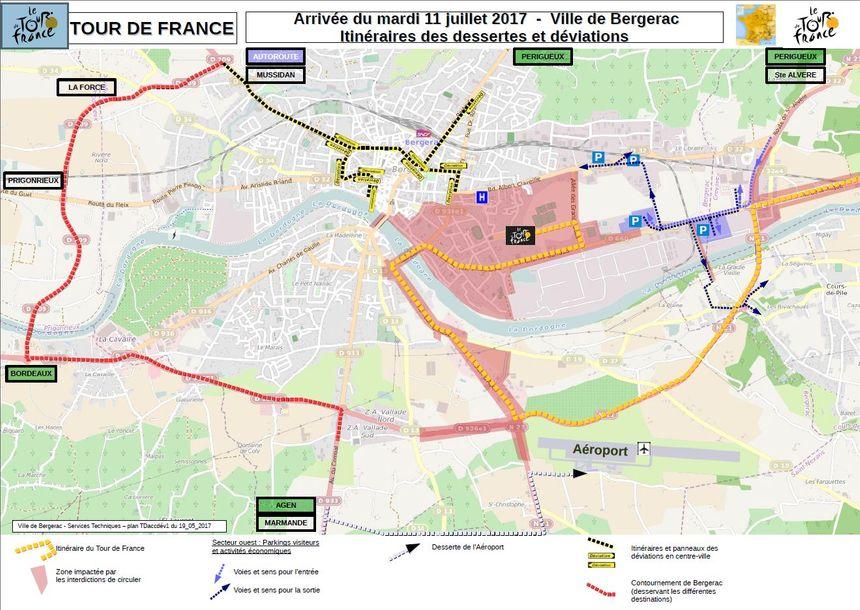 L'accès à Bergerac le 11 juillet