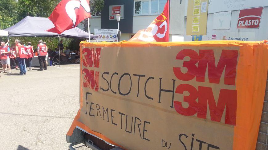 A Longvic, les salariés de 3 M ont entamé une grève pour peser sur les négociations du plan social