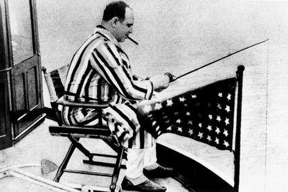 Al Capone à bord d'un yacht sur la côte de Floride en 1931