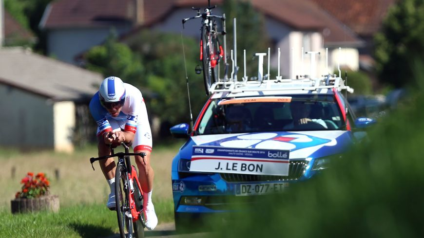 Johan Le Bon est un spécialiste du chrono et du prologue des Boucles de la Mayenne où il s'impose pour la seconde fois.