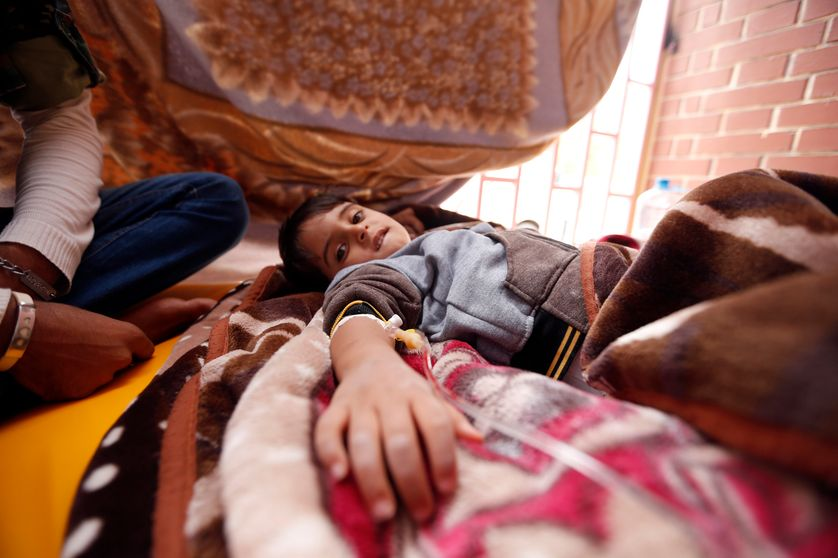 Après la faim, la soif, les bombes, la peur, la fuite, l'exode, les camps et la mort qui rode partout dans les rues, maintenant c'est le choléra qui surgit à son tour...