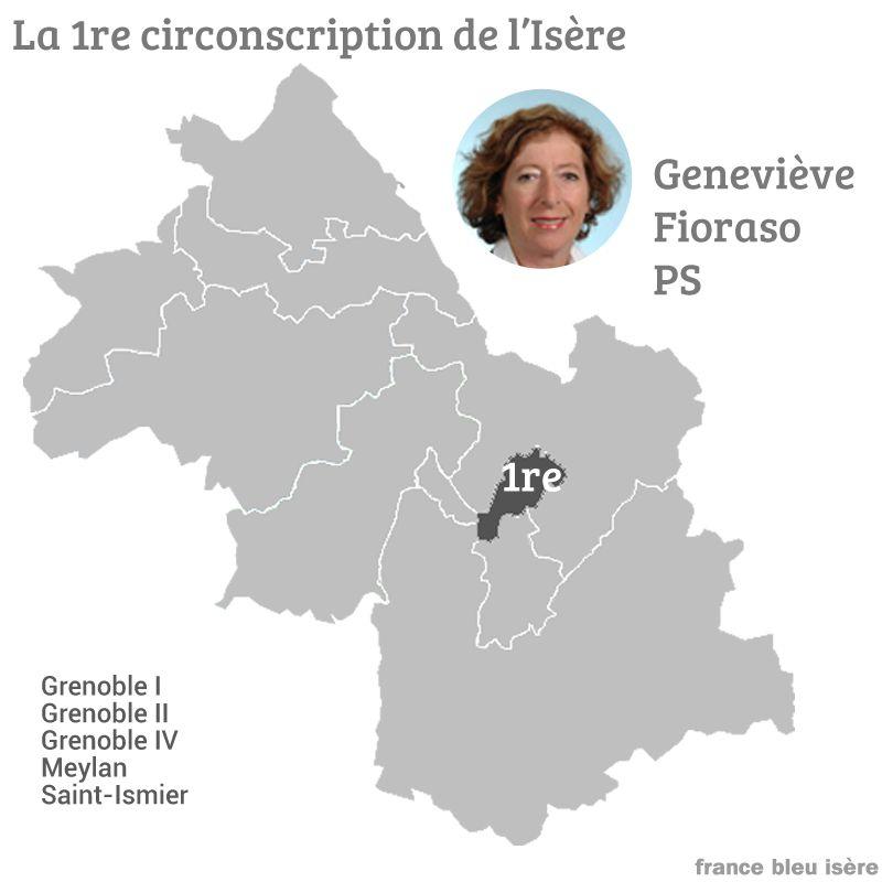 Genevière Fioraso, député socialiste sortante, soutient son ex-suppléant, Olivier Véran, de la République En Marche