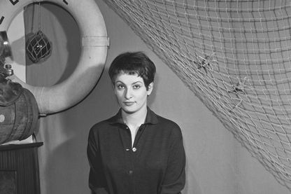 Barbara au cabaret l'Écluse, dans les années 50