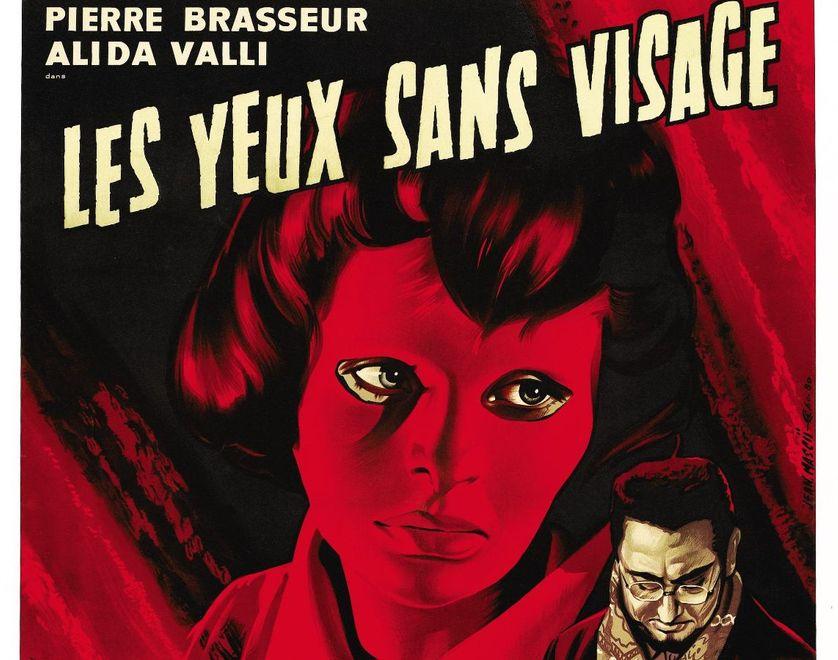 """Détail de l'affiche du film """"Les yeux sans visage"""" de Georges Franju"""