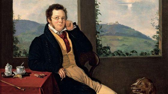 Portrait de Franz Schubert par Gábor Melegh, 1827