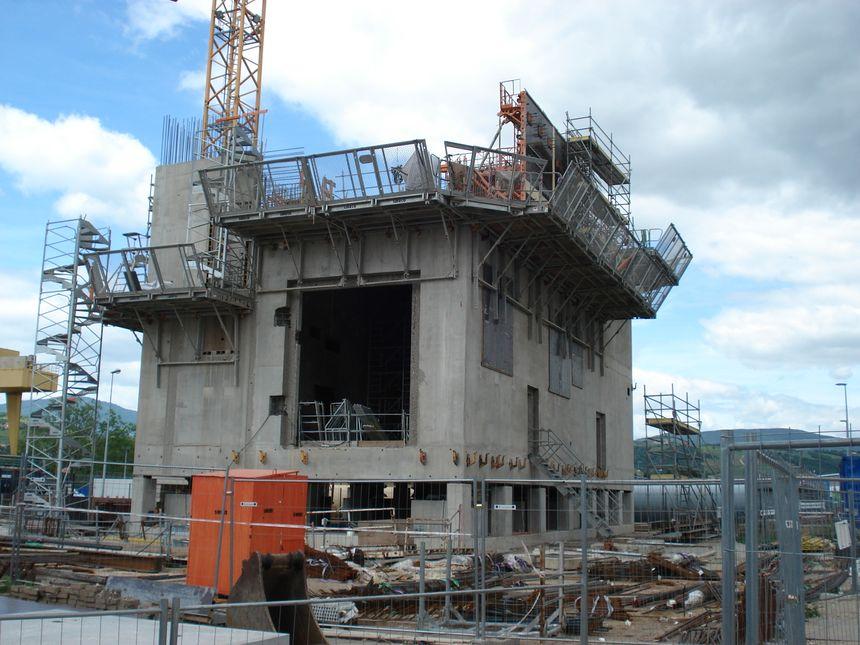 """L'un des deux bâtiments où seront installés les """"Diesels d'ultime secours"""""""