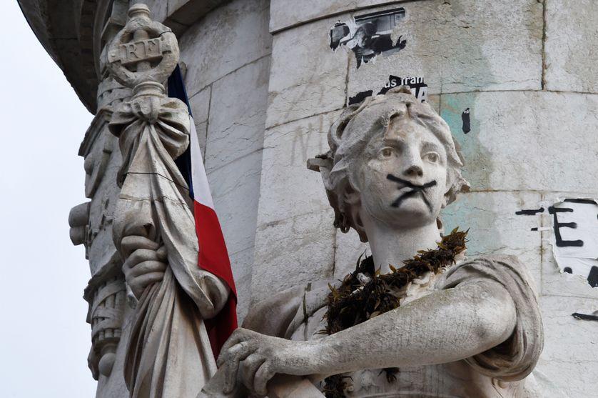 Place de la République à Paris le 10 janvier 2016