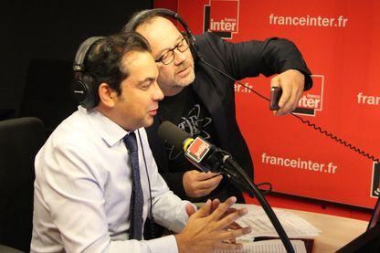 Patrick Cohen et Thomas Legrand pour sa dernière émission