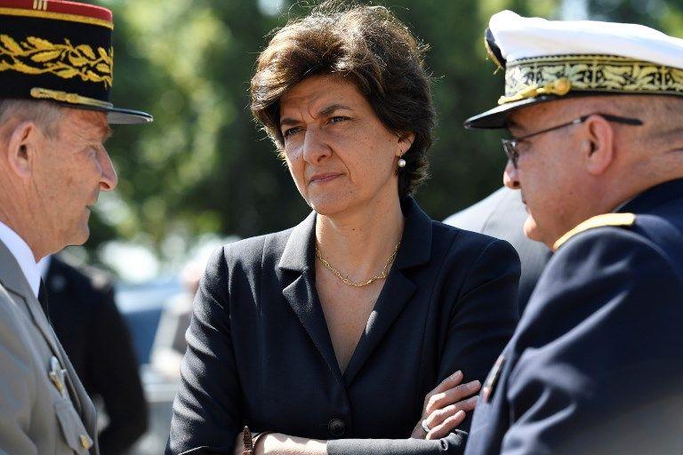 Sylvie Goulard lors de l'une de ses dernières apparitions publiques en tant que ministre des Armées, la cérémonie marquant le 77e anniversaire de l'Appel du Général De Gaulle