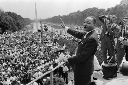 Martin Luther King à Washington en 1963 lors de fameux discours