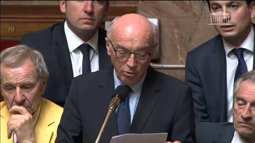 Alain Moyne-Bressand lors de l'une de ses interventions dans l'hémicycle