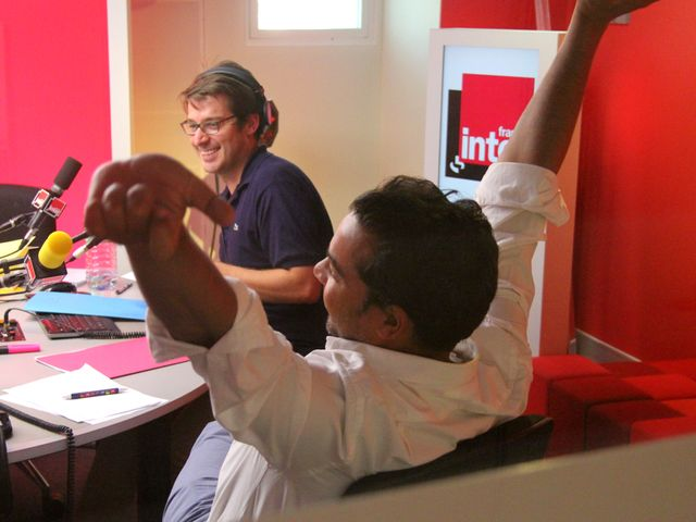 Bruno Duvic et Patrick Cohen (août 2013)