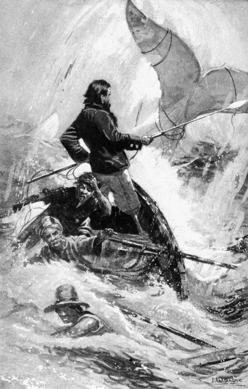 "Illustration ""Moby Dick"" en 1900"