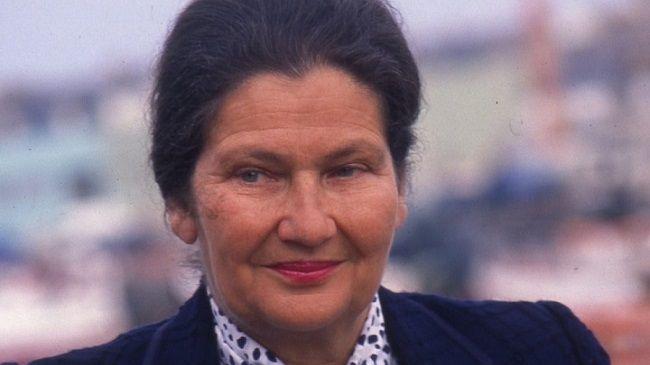 Simone Veil, ancienne ministre de la santé, ex-présidente du Parlement Européen ici photographiée en 1989.