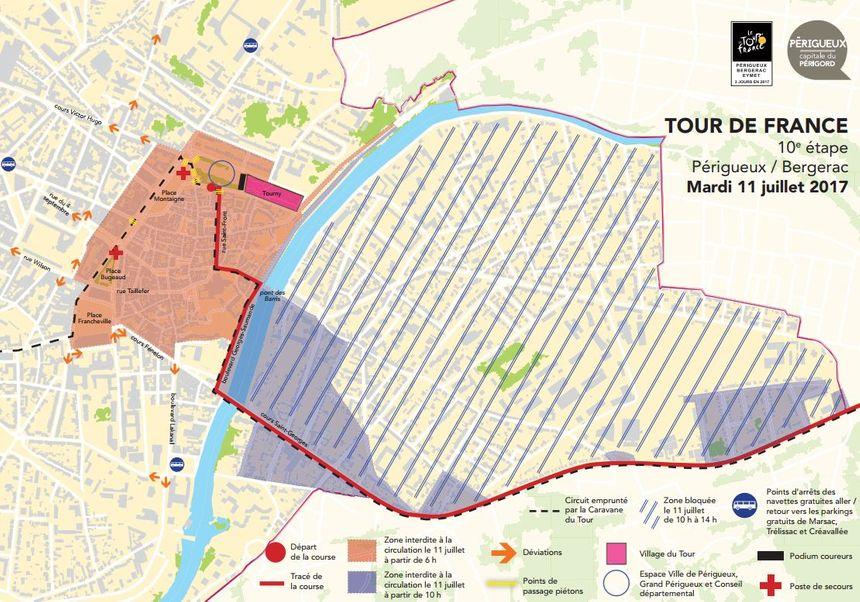 Plan de circulation du 11 juillet