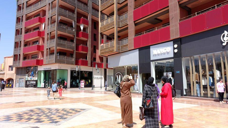 Le quartier Gueliz à Marrakech où la police a retrouvé une partie du corps