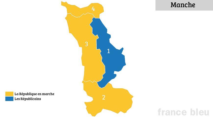 Les résultats du second tour des élections législatives dans la Manche.