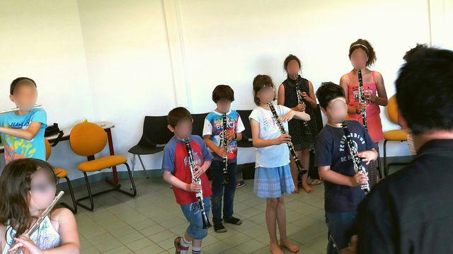 Répétition des enfants de l'orchestre Demos