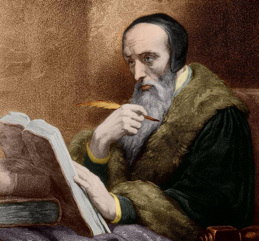 Portrait de Jean Calvin  (1509-1564), fondateur du calvinisme
