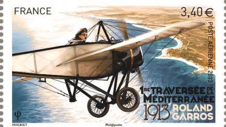 Timbre du centenaire de la traversée de la Méditerranée