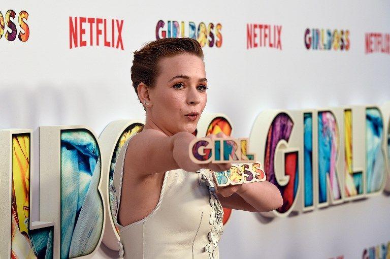 """Britt Robertson, l'actrice principale de la série """"Girlboss"""", ici à la première le 17 avril à Los Angeles. L'arrêt annoncé de cette série en fait une des plus éphémères productions de Netlifx."""